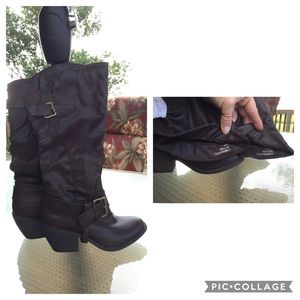 "Sugar Blane Dark Brown Tall with 2.5"" Heel Boots"